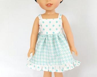 Ruffled sundress fits Wellie Wisher dolls