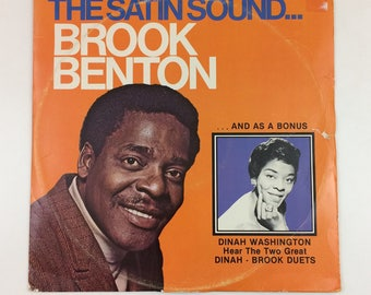 Vintage The Satin Sound...Brook Benton Vinyl Record 2 LP [197?]