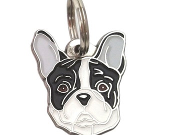 Pet tag FRENCH BULLDOG, black and white