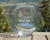 Mom Wine Glass, Wine Glas...