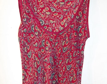 Tova-Celine Red Silk Dress   Small
