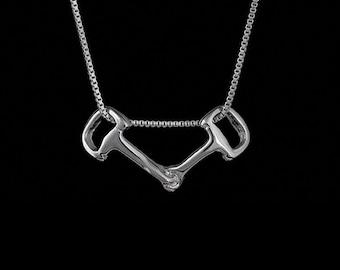 Dee Bit Pendant, Dee Bit Necklace, Dee Bit Jewelry, Horse Bit Jewelry, Horse Bit Necklace, Pony Necklace, Horse Jewelry, Equestrian Jewelry