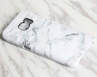 Samsung Galaxy S9 plus case Galaxy S8 plus case Galaxy S7 edge Galaxy Note 5 iPhone X case tough & snap case White Marble KB-0876