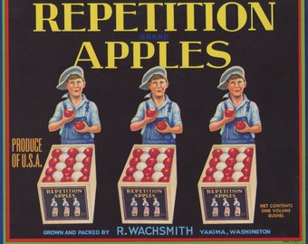 Repetition Apples Crate Label