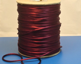 Dark Red Rattail Satin Cord 2mm 3 yards