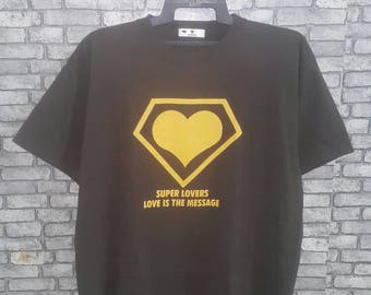 Rare super lovers japan street wear shirt