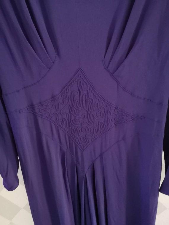 Vintage dress Dress 1940s 40s purple 40s Medium dress 40s Women 1940s rayoncrepe qqgWx1nr