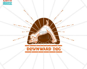 Downward Dog svg, yoga shirt, yoga, dog, funny, yoga pose, dog lover, yoga lover,svg png dxf eps zip for Silhouette, Cricut Cutting machines
