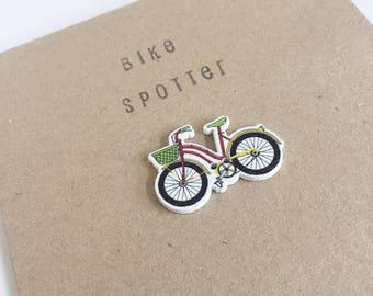 Bike Spotter - Bike Button Card - Celebration - Snail Mail - Friend