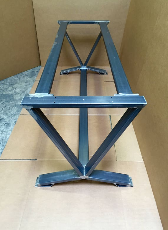 V Shaped Dining Table Base Super Heavy Duty Industrial Table