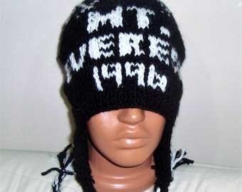 MT. EVEREST 1996 Hat Mount Everest Hat Personalized Gift Mens Hat Mountain Mountaineering Climbing Hat Mens Gift for Him Hand Knit Hat Black