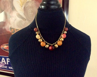 Great Balls of Fire Button Necklace