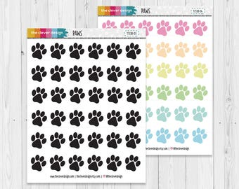 Paw Planner Stickers | Paw Prints | Dog Paw Print | Planner Stickers | 17338-03