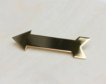 Gold Arrow Pin, Arrow Pin, Arrow Brooch, Gold Arrow Brooch, Arrow, Arrow Shape, Pin, Brooch