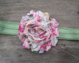 Shabby Chic Floral Headband, Baby Headbands, Infant Headbands, Girl Headbands, Baby Girl Headbands, Baby Bow