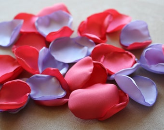 Coral and Lavender Flower Petals * Wedding Decor * Baby Shower * Birthday Party * Table Decor
