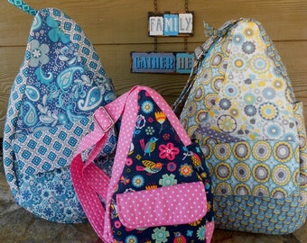 Quilted Teardrop Sling Bag*Backpack*Purse