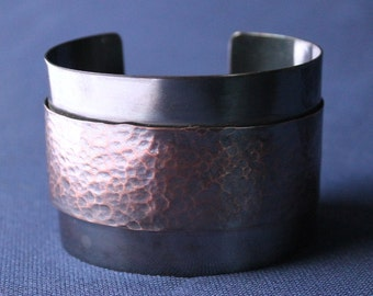 Copper Hammered Cuff Bracelet, Cuff, Copper, Copper Cuff, Copper Hammered Rivet Cuff, Riveted Cuff, Copper Bracelet