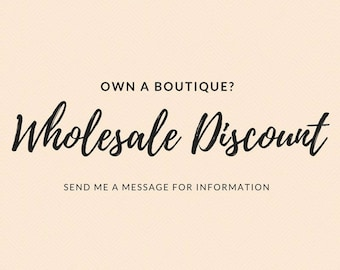 Own a boutique?  Wholesale Discount available on One of Kind Handmade Jewelry