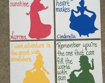 Disney princess paintings