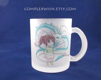 Spirited Away - Haku and Chihiro 11oz frosted mug