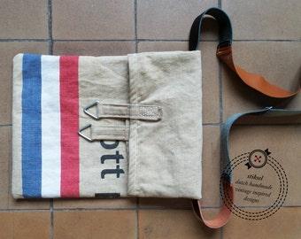 SALE / LAST ONE / Postal Bag / Canvas Mail Bag / Messenger / Shoulder Bag / Vintage / Dutch flag / Red-white-blue