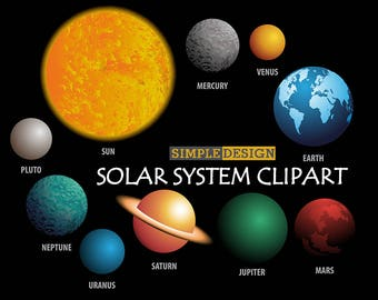 20-35% off Space clipart, Outer space clipart, Planet clipart, Solar System Clipart, Digital Planets clipart, Planets Clipart, Solar System