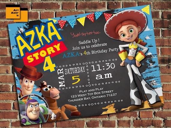 Toy Story Birthday Invitation Toy Story Birthday Invite