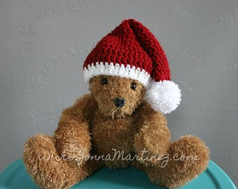 The Holiday Hat, Crochet Holiday Stocking Hat, New Born To Adult Sizes, Permission To Sell Finished Items