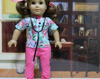 Scrubs for Vet, Doctor, Nurse, Dentist, Technician for American Girl and similar dolls