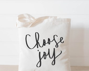 Choose Joy, present, housewarming gift, tote bag, tote, Bible verse, inspirational, womens gift, christian gift, overnight bag