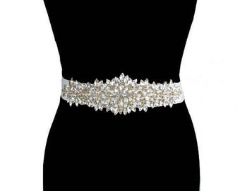 Bridal Sash, Rhinestone Bridal Sash, Wedding Dress Belt, Bespoke belts, Belts For Wedding Dresses, Rhinestone Wedding Belts, Bridal Belts