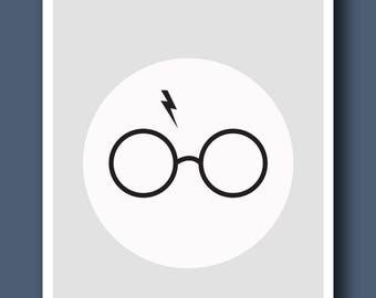 Printable Harry Potter Glasses Print
