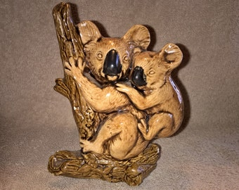 Vintage Ceramic Koala with Baby Figurine