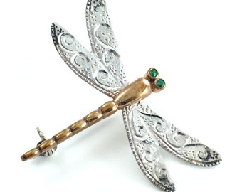 Dragonfly jewelry Dragonfly brooch Japanese jewelry Insect jewelry