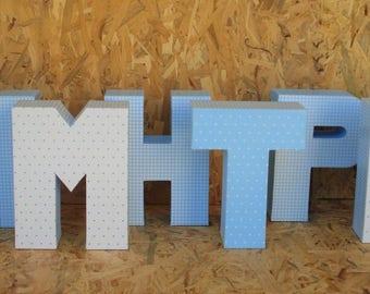 Personalized decorative 3D letters, 3D names, greek, custom letters, nursery decor, baptism decor, party decor, alphabet art