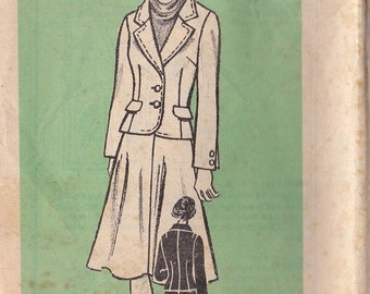 ON SALE 1960's Sewing Pattern - Mail Order Pattern No 9482 of  Jacket and Skirt  Size 8 complete Bust 31 1/2 inch