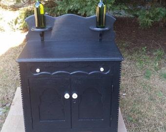 Antique wash stand wine rack