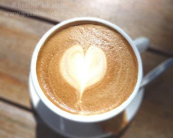 Cappuccino Heart- Wall Decor - Fine Art Photography Print