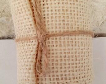 Very natural beige burlap roll