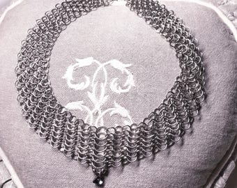 Necklace steel chainmail necklace