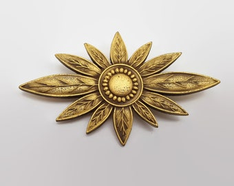 Vintage N.T.H.P. Gold Tone Flower Pin 1982