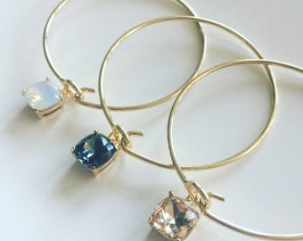 Gold and Faux Stone Classy Bangles