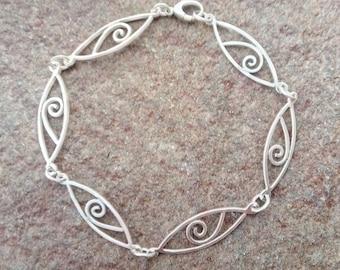 Handmade Sterling Silver Link Chain Bracelet