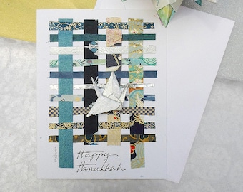 Happy Hanukkah Wishes,Chanukah or Hanukkah,Handmade Holiday Cards,Hanukkah Greetings Wishes,Blue Hanukkah Card,Holiday Blank Card