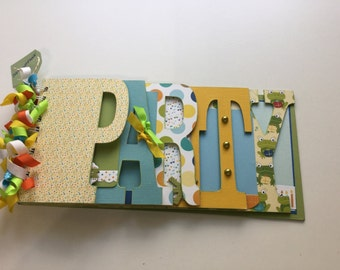 "Birthday ""Party"" Word Chipboard Album"
