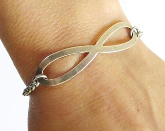 Infinity Bracelet Sterling Silver Finish