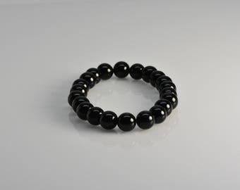 Black Onyx bracelet  | stretch bracelet, gemstone bracelet, bead bracelet,mens bracelet,friendship bracelet,beaded bracelet,Mothers day gift