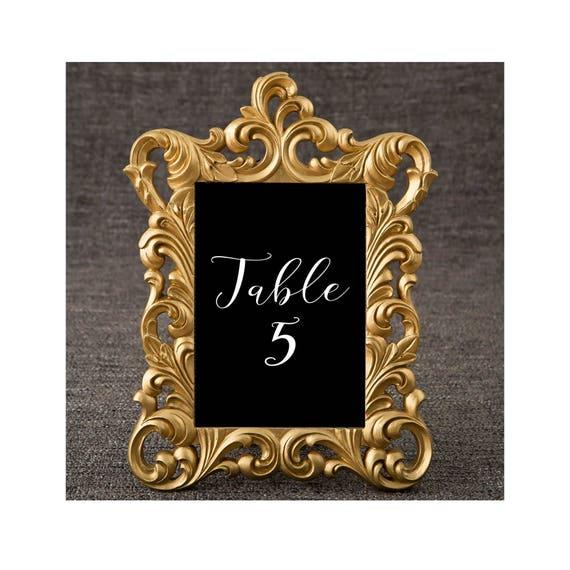 5 x 7 Gold Frames Set of 20 Baroque Table Number Frame