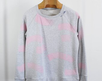 soft pink sweater 1. xlarge, hand painted sweater, embroidery sweater